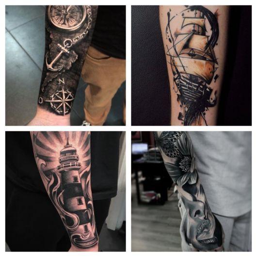 tatuagem no antebraço masculina