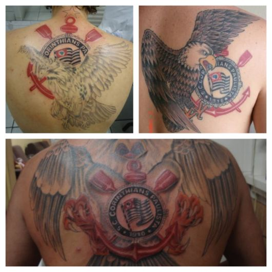Ideias de tattoo do Corinthians nas costas