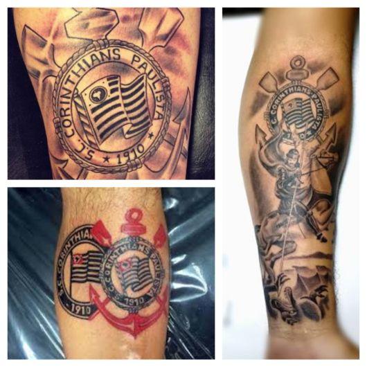 Conforme as imagens, você pode exaltar tanto o escudo quanto outros elementos relacionados ao clube