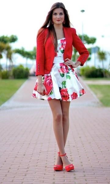 look com vestido floral
