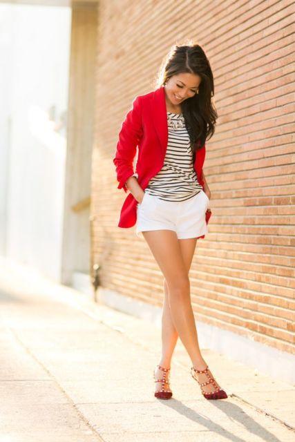 look sapato vermelho
