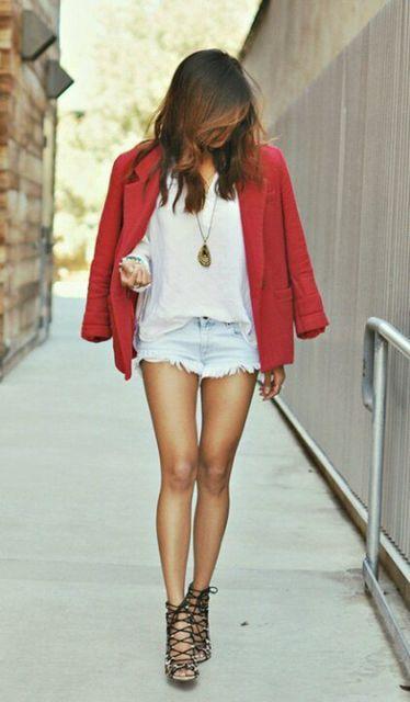 look short jeans com sandália