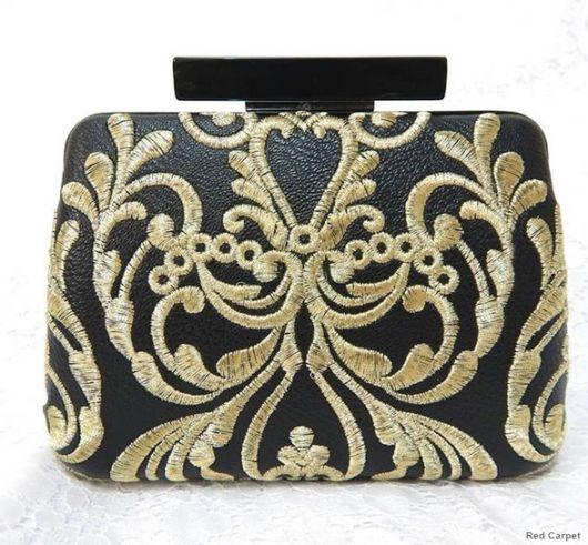 bolsa bordada dourado