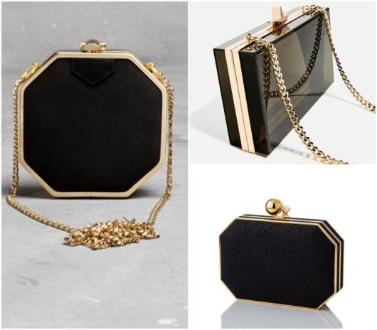 modelos em preto e dourado