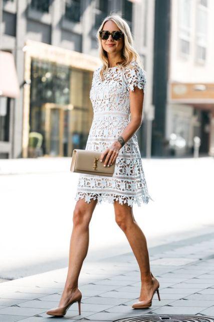 look vestido branco