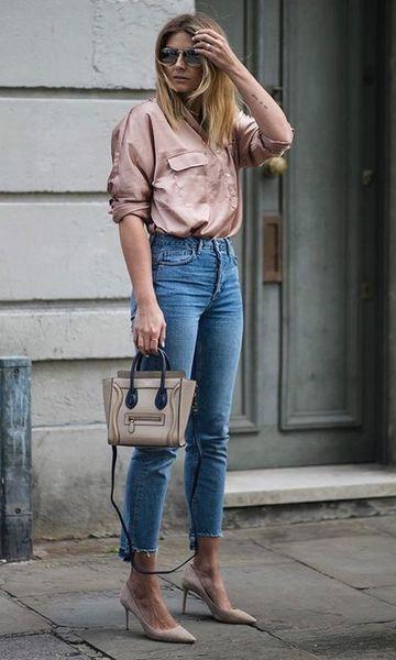 look scarpin com calça jeans