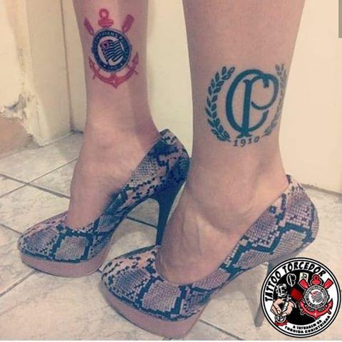 Ideia de tatuagens do Corinthians nas pernas