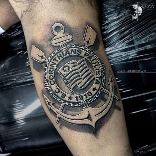Que tal o escudo sombreado? Uma boa ideia de tatuagem que está em alta
