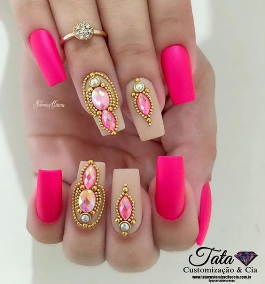 nail art neon