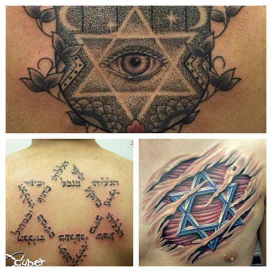 tatuagem estrela de Davi