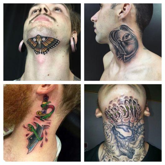 Tatuagem no pescoço masculina – 80 ideias e desenhos fascinantes!