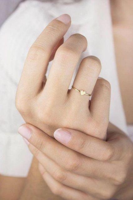 anel com coração