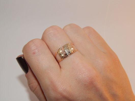 anel com 3 cores de ouro