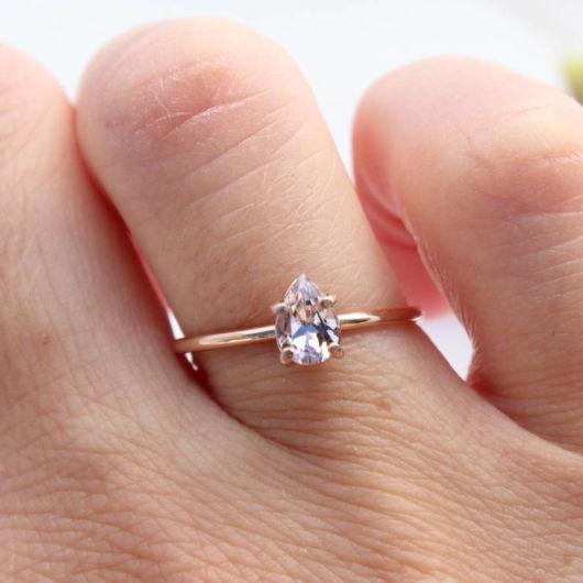 anel em ouro rosé
