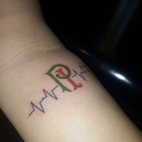 tatuagem do Palmeiras feminina