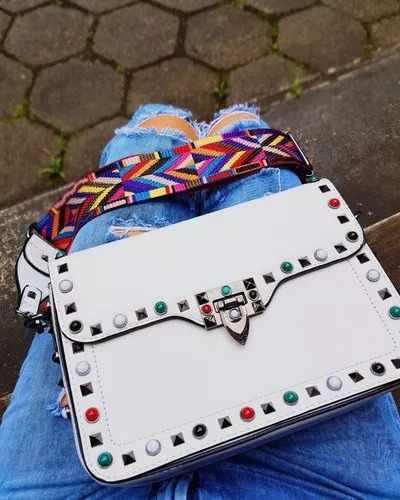 bolsa branca quadrada