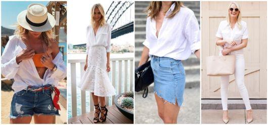 Camisa Branca Feminina – 73 Looks Inspiradores & Como Usar!