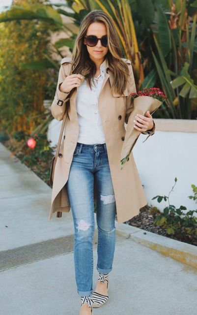 look com trench coat