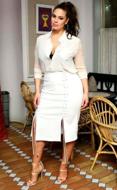 look branco plus size