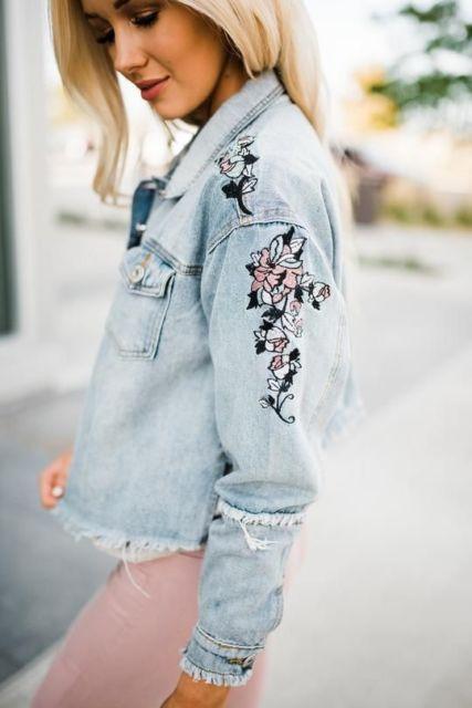 look jaqueta jeans clara