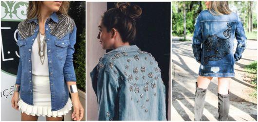 jaqueta com pedrarias