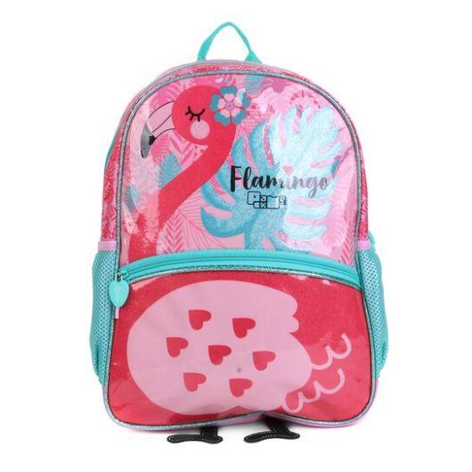 mochila infantil pink e azul