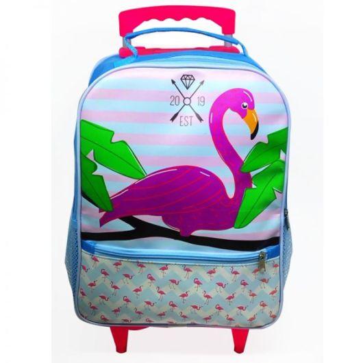 mochila colorida com rodinha