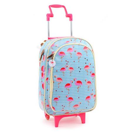 mochila azul com rodinhas