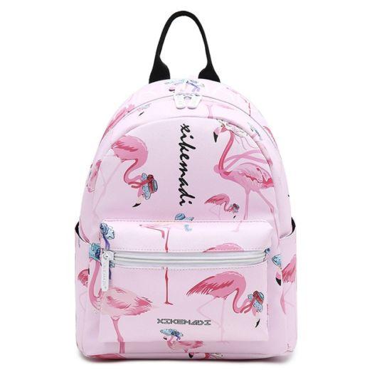 mini mochila de couro