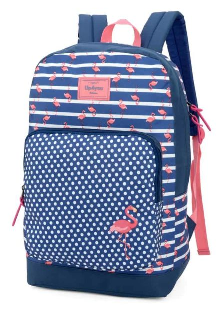 mochila azul marinho