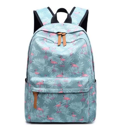 mochila feminina azul