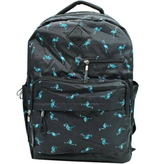 mochila preta e azul