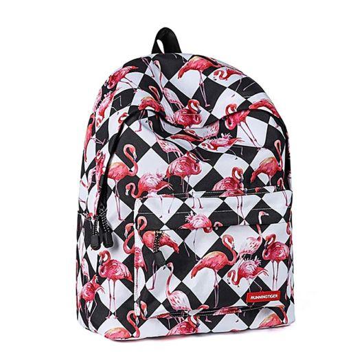 mochila estampa geométrica