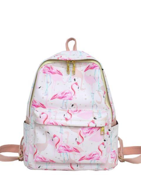 mochila feminina rosa
