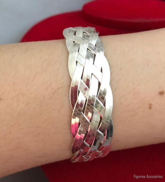 bracelete trançado