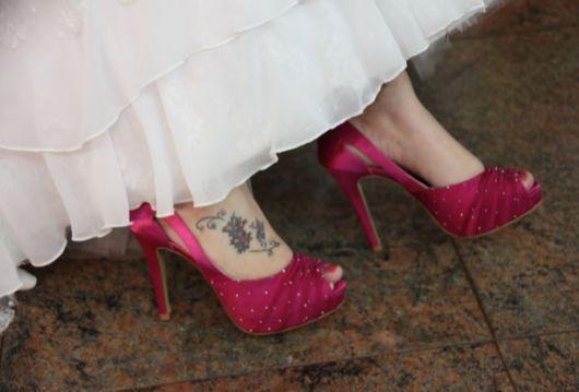 sapato pink noiva