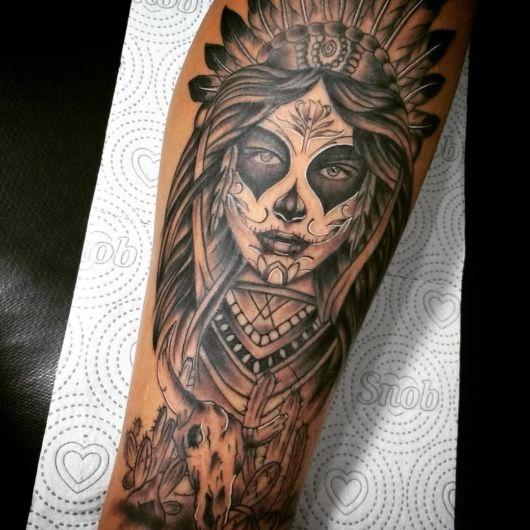 tatuagem Catrina