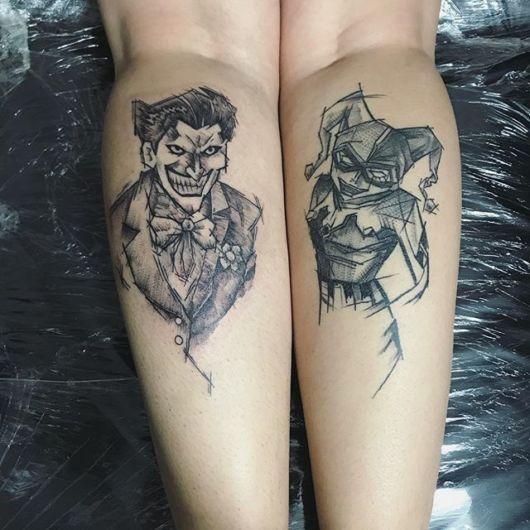 tatuagem Coringa e Arlequina