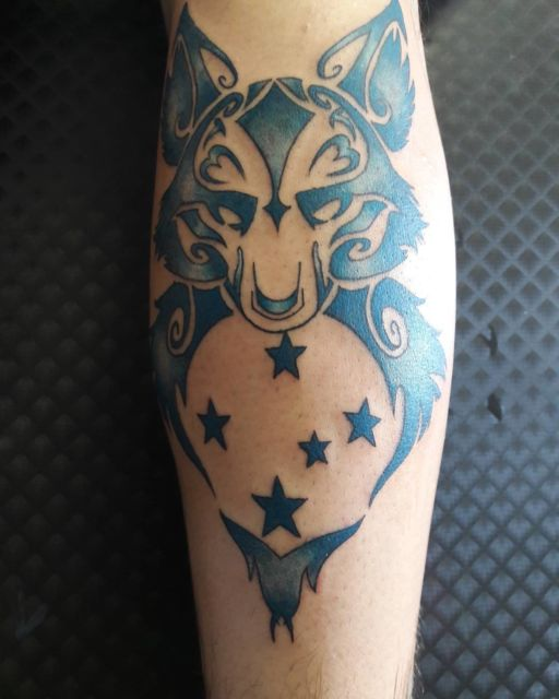 tatuagem do cruzeiro na perna