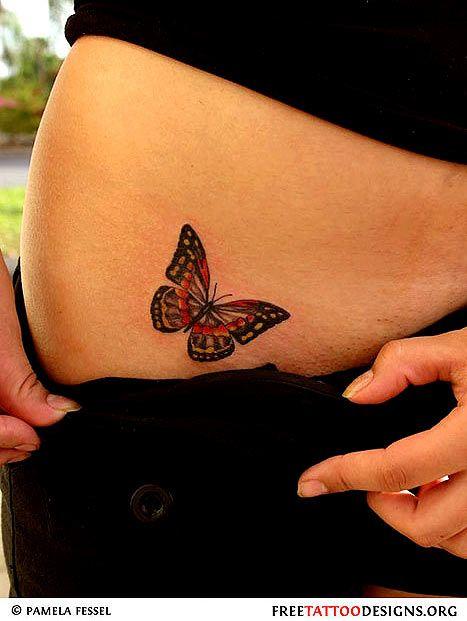 tatuagem borboleta colorida