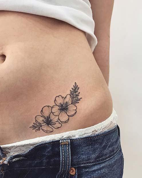 tatuagem delicada flor