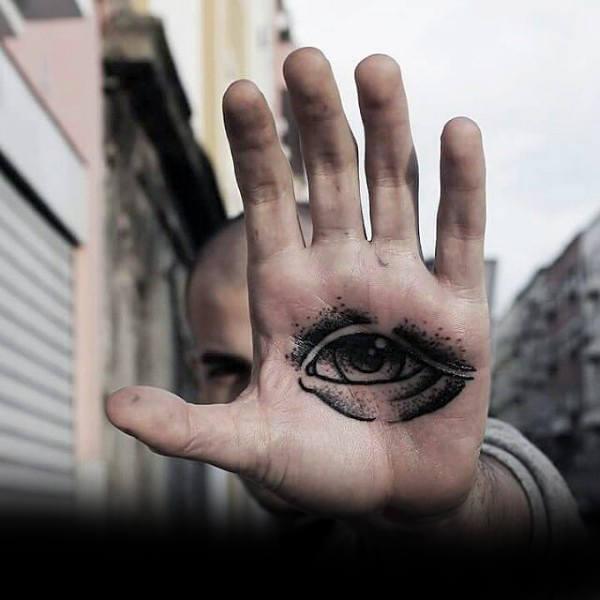tatuagem palma da mão