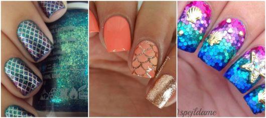 ideias de unhas com glitter