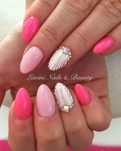 nail art concha