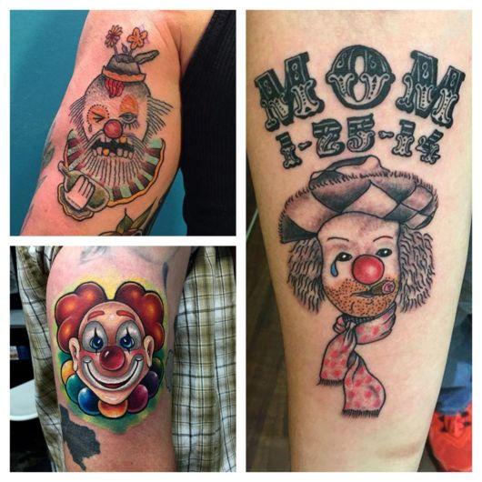 Significado da tatuagem de palhaço + 70 fotos incríveis