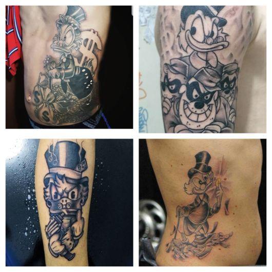 tatuagem do tio Patinhas