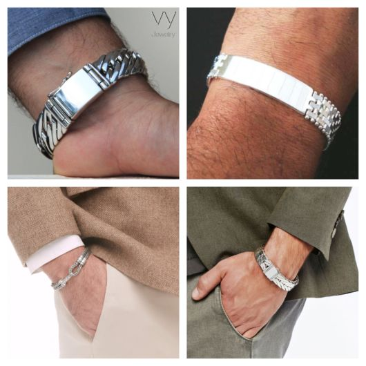 Pulseira de prata masculina
