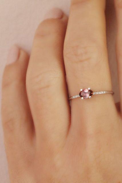 anel com pedra