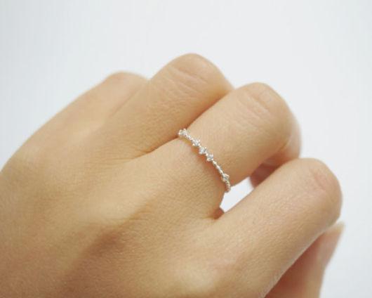 anel de prata delicado