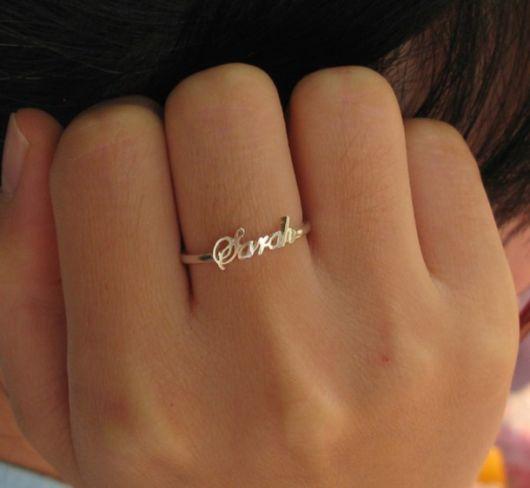 anel personalizado com nome